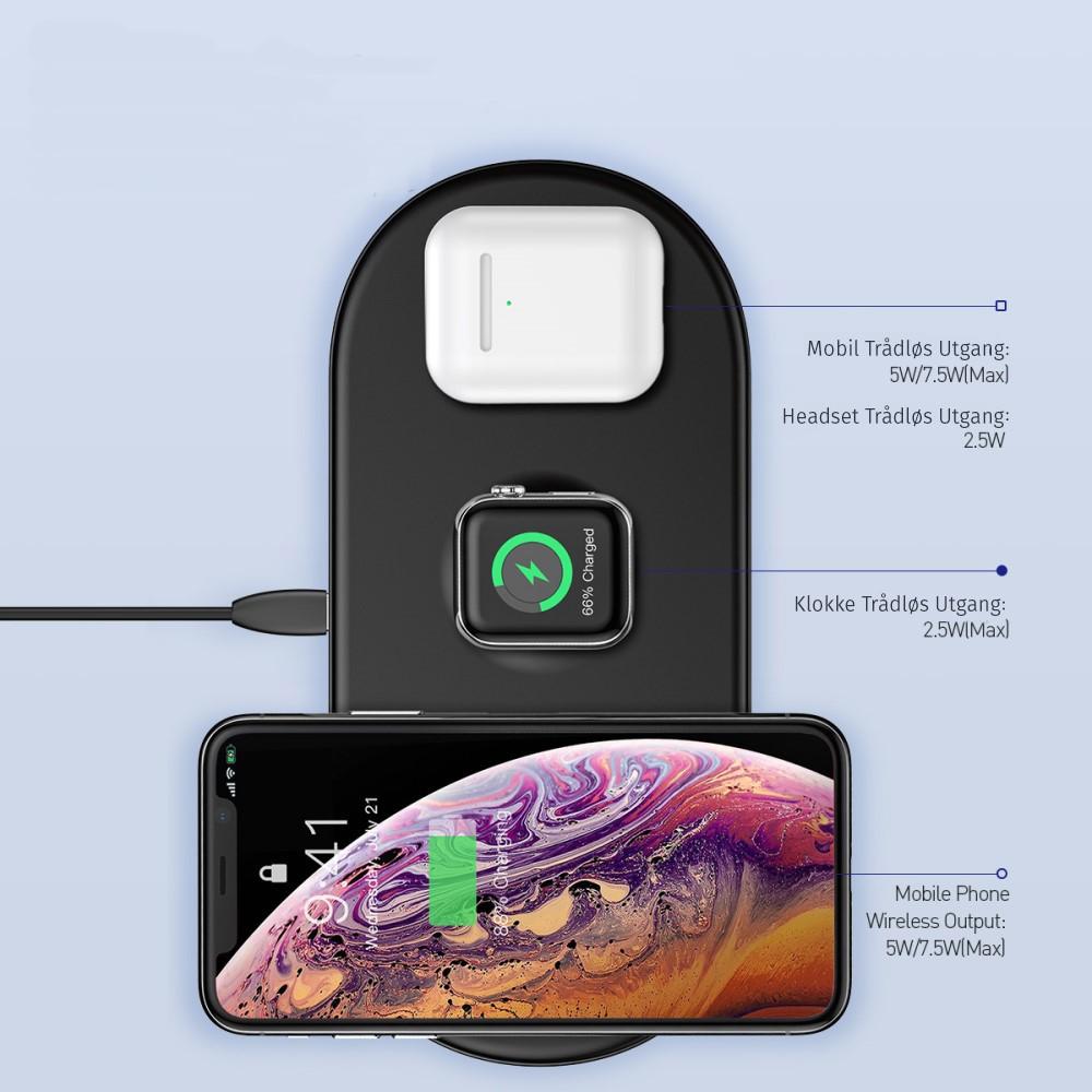 iPhone 3i1 Qi Trådløs Lader | Etuier, deksler