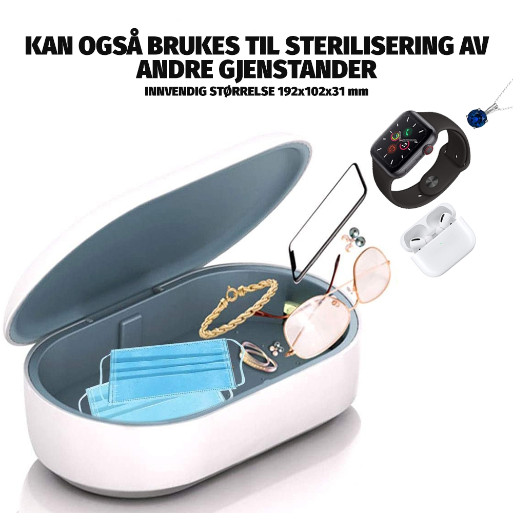 2i1 UV sterilisering og Trådløs Lader for Mobil